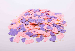 'Baby Feet' Pink Table Confetti