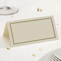 Place Card - Ivory With Gold Border (50 Per Pack)