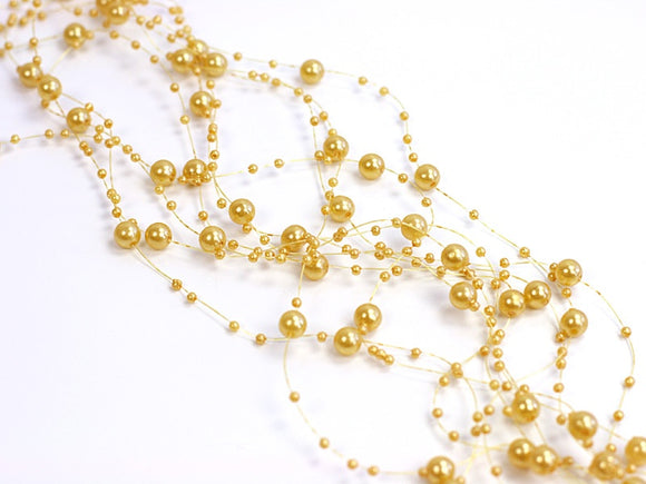 Beaded Garland - Gold (5 Per Pack)