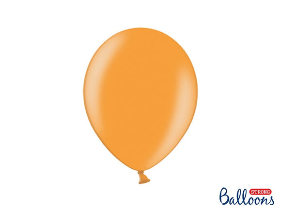 100 Latex Mandarin Orange Metallic 11 Inch Balloons