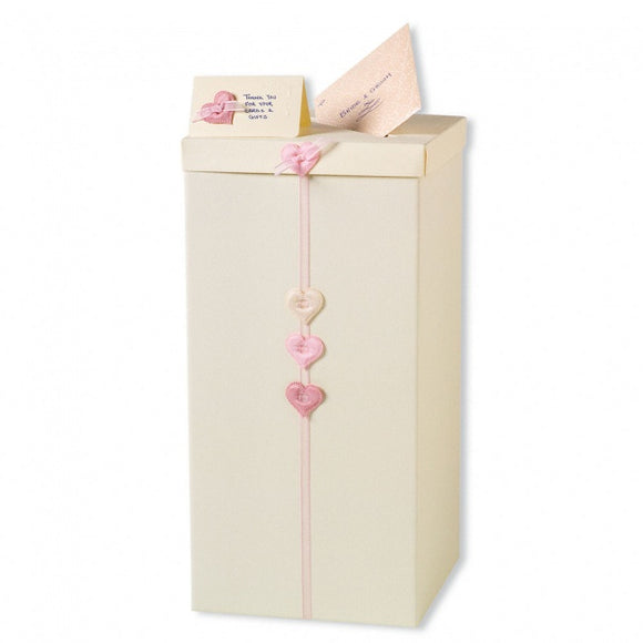 Plain Ivory Post Box - Extra Large