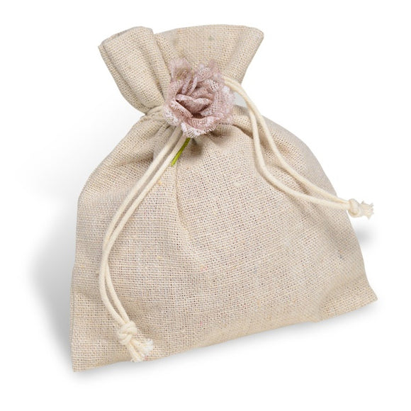 Natural Linen Favour Bags (10 Per Pack)