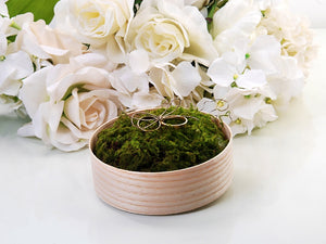 'Ring Cushion' Wooden Box With Moss