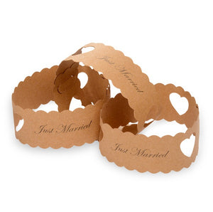 50 'Just Married' Paper Chains (Kraft)