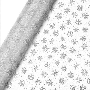 Silver Snowflake Christmas Table Runner / Organza Roll