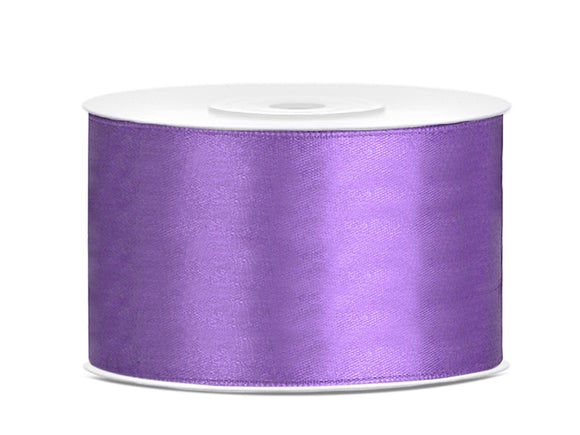 Double Sided Lilac Satin Ribbon - 38 mm x 25 metres