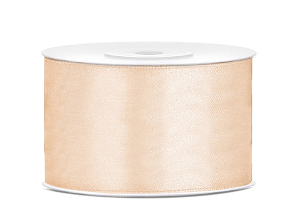 Double Sided Cream Satin Ribbon - 38 mm x 25 metres