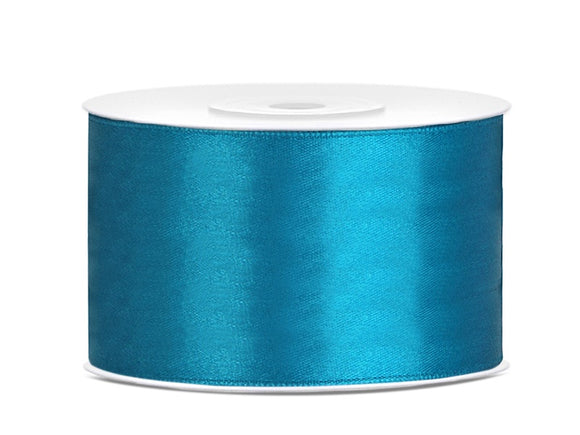 Double Sided Turquoise Satin Ribbon - 38 mm x 25 metres