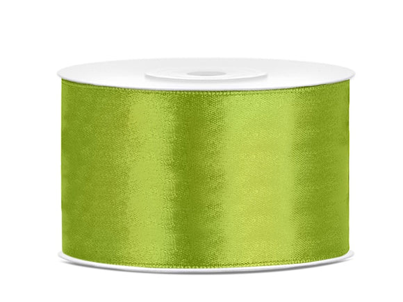 Double Sided Light Green Satin Ribbon - 38 mm x 25 metres