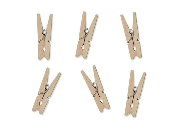 20 Craft Wooden Pegs (Natural)
