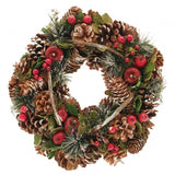 Natural Christmas Wreath - Frost Finish (30cm)