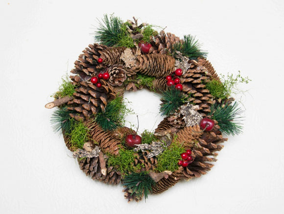 Natural Christmas Wreath (30cm)