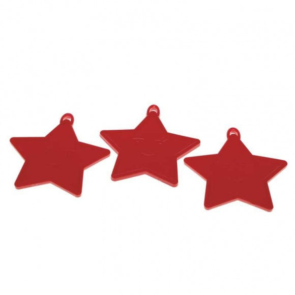 Red Star Balloon Weight