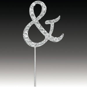 Silver Diamante Ampersand / And Cake pick