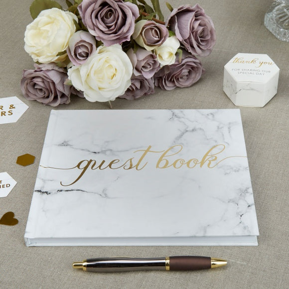 Guest Book 'Scripted Marble'