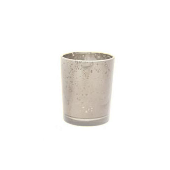 Glass Votive Candle Holder (Speckled Light Silver)