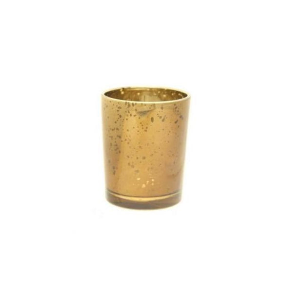 Glass Votive Candle Holder (Speckled Champagne)