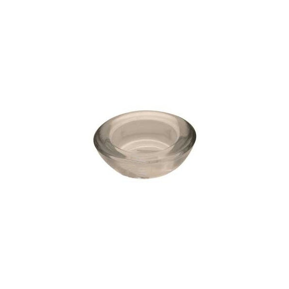 Round Glass Tealight Holder (Clear)