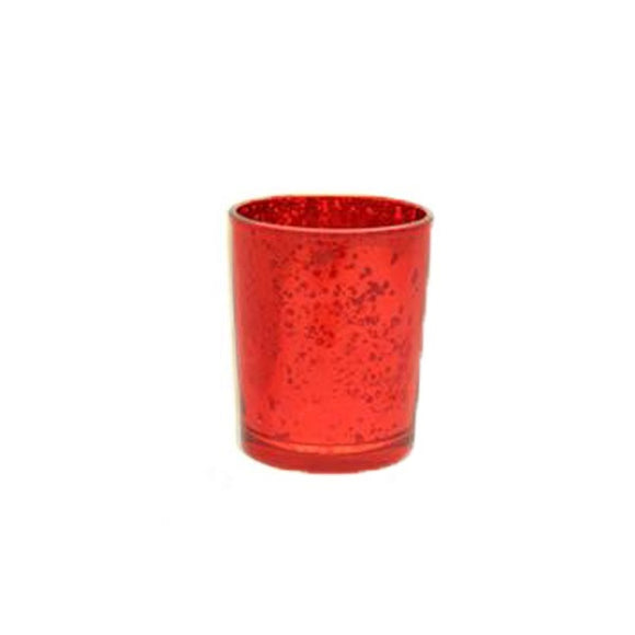 Glass Votive Candle Holder (Speckled Red)