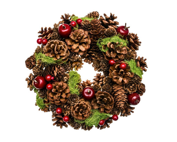 Natural Red Cherry Wreath (30cm)