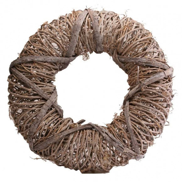 Wicker Wreath With Star Design (40cm)
