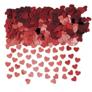 Red Hearts Table Confetti
