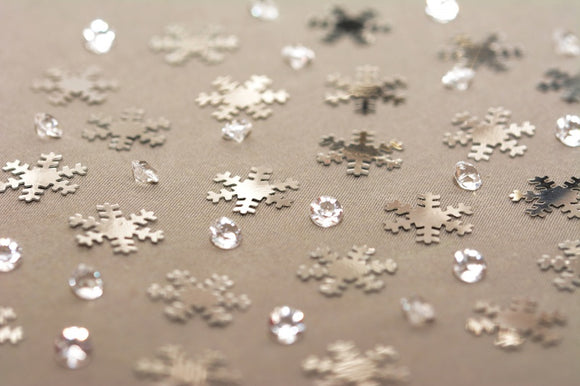 Snowflake Table Confetti and Table Crystal Mix (28 g)