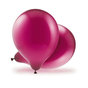 Latex Helium Quality Balloons and Ribbon - Burgundy (25 Per Pack)