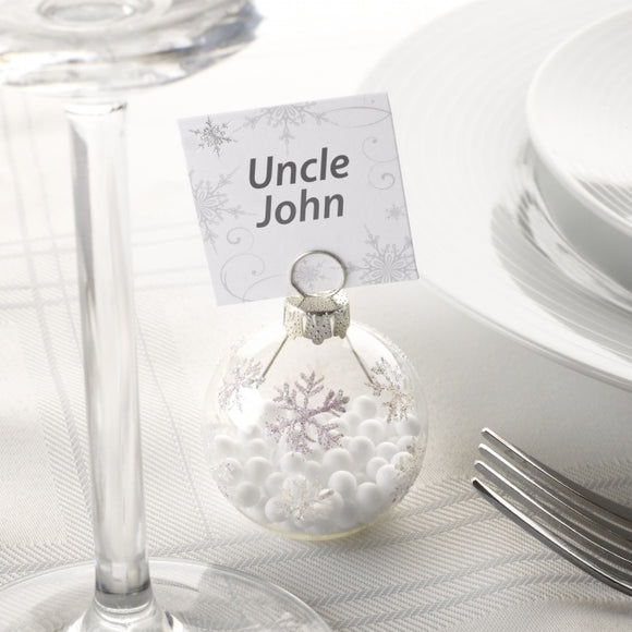 Christmas Bauble Place Card Holders