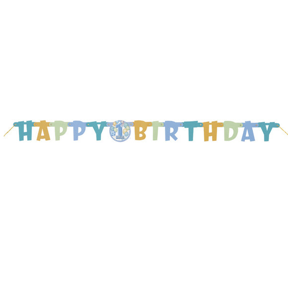 Wholesale Blue '1st Birthday' Jointed Banner