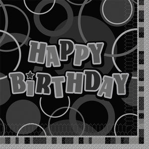 Wholesale Black Happy Birthday Napkins