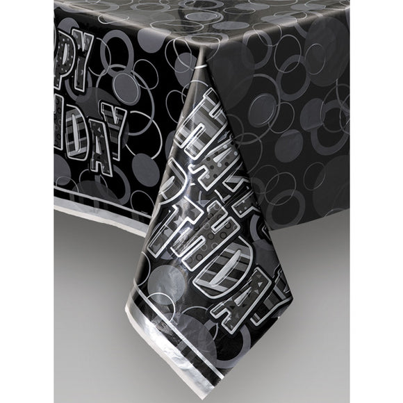 Wholesale Black Happy Birthday Table Cover