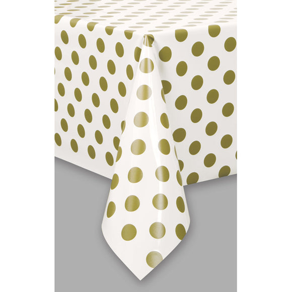 Wholesale 'Gold Dot' Plastic Table Cover