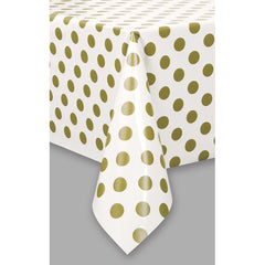 'Gold Dot' Plastic Table Cover