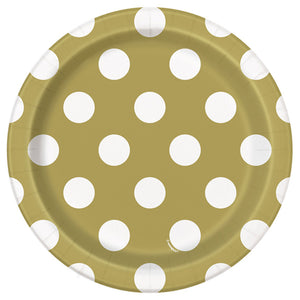 Wholesale 'Gold Dot' Plates - Small