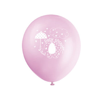 Wholesale 'Umbrellaphants' Pink Baby Shower Balloons