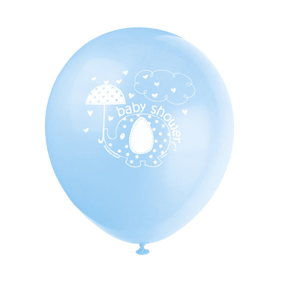 Wholesale 'Umbrellaphants' Blue Baby Shower Balloons