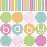 Wholesale Baby Shower 'Pastels' Napkins