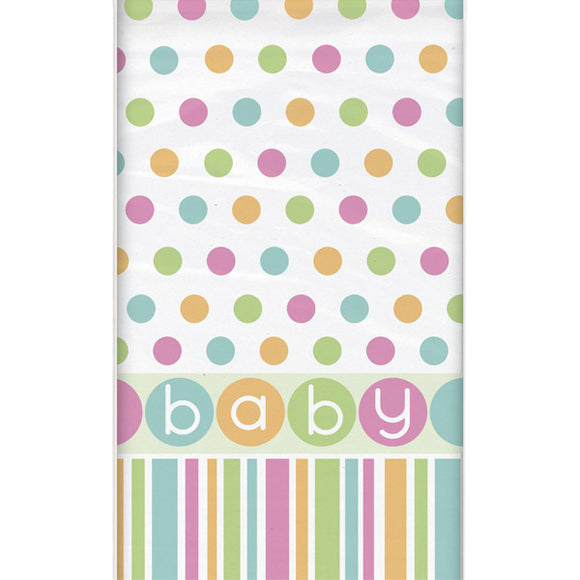 Wholesale Baby Shower 'Pastels' Table Cover