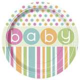 Wholesale Baby Shower 'Pastels' Plates