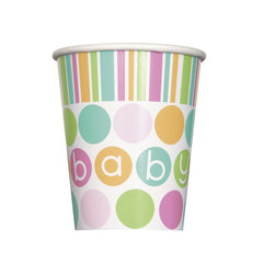Baby Shower 'Pastels' Cups - 8 Pack