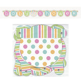 Wholesale Baby Shower 'Pastels' Jointed Banner