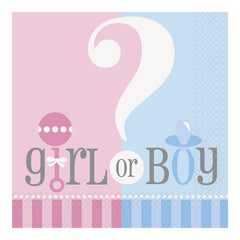 Gender Reveal Napkins - 20 Pack