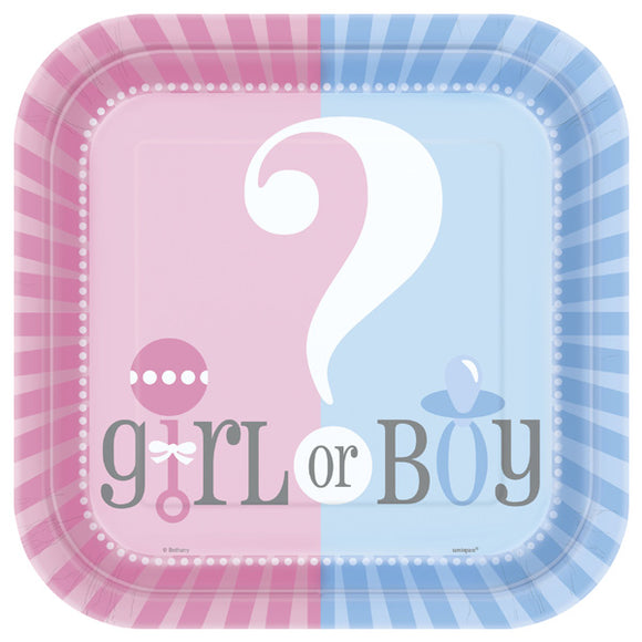Wholesale Gender Reveal Plates