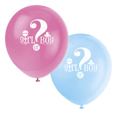 Gender Reveal Balloons - 8 Pack