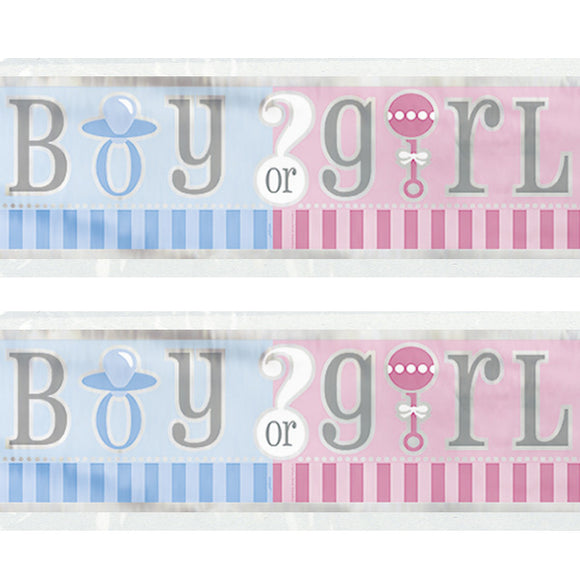 Wholesale Gender Reveal Banner
