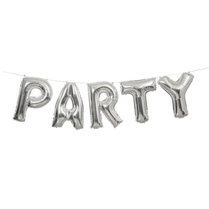 Wholesale Silver 'Party' Balloon Banner Kit