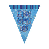 Wholesale Blue Happy Birthday Flag Banner