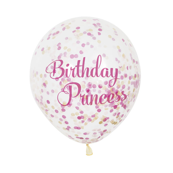 Wholesale Birthday Princess Confetti Balloons