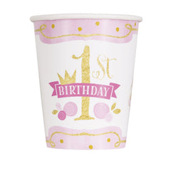 '1st Birthday Princess' Paper Cups - 8 Pack